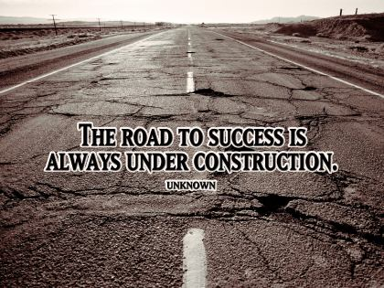 Road to Success quote